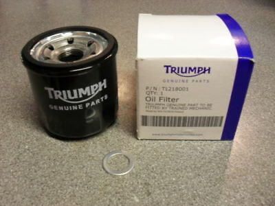 Brand New Genuine Triumph Oil Filter and Sump Washer - Cheapest Price on eBay!
