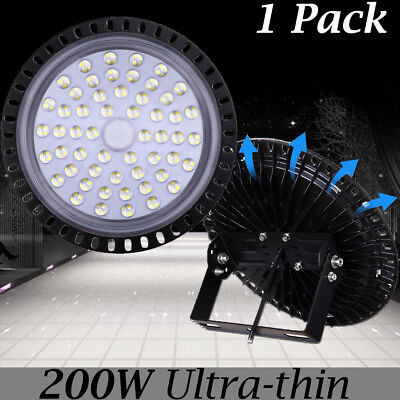 200W UFO LED High Bay Lights Super Bright Factory Warehouse Shop GYM Lighting