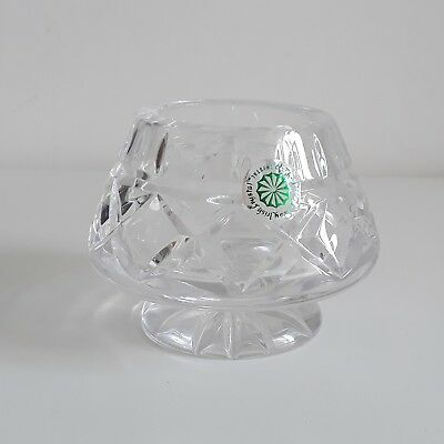 GALWAY CRYSTAL Cut Glass Candle Holder Tea Light Gift