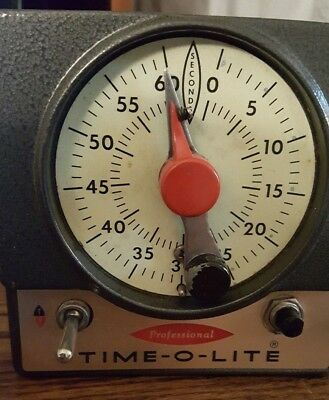 Time-O-Lite Vintage Singer Model P-72 Darkroom Timer – TESTED works fine