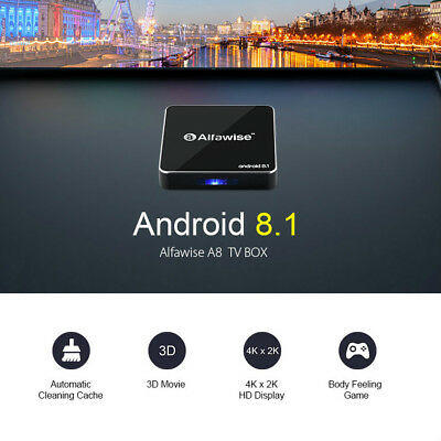 Alfawise A8 4K TV BOX Rockchip 3229 Android 8.1 2GB+16GB 2.4G WiFi HD 100Mbps