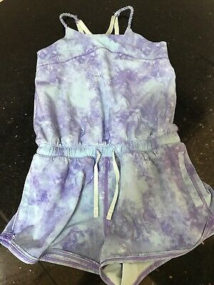 Girl's Ivivva Camp Early Wait Romper Size 10 - Pastel Tie Dye Pink EUC Lululemon