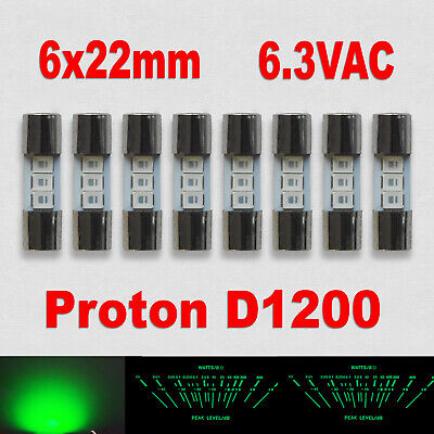 8x LED Lamps Proton D1200 24x6mm Front VU Meter Light Direct Snap-in Replacement