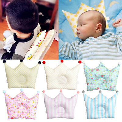 7C14 Baby Anti-Roll Pillow Foam Infant Memory Prevent Head Flat Support Neck Cut