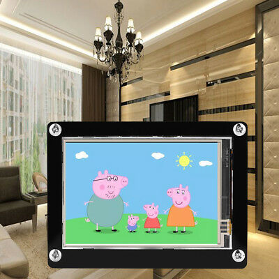 3.5 inch 1080P IPS HDMI LCD Screen Display for Raspberry Pi + Black Acrylic Case