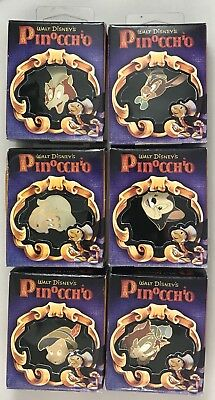 Disney Gallery Store Pinocchio Lot of 6 Pins ALL NEW IN BOX - LE 1940