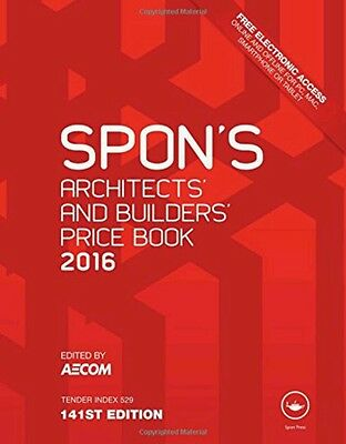 Spon's Architect's and Builders' Price Book 2016 (Read Description)