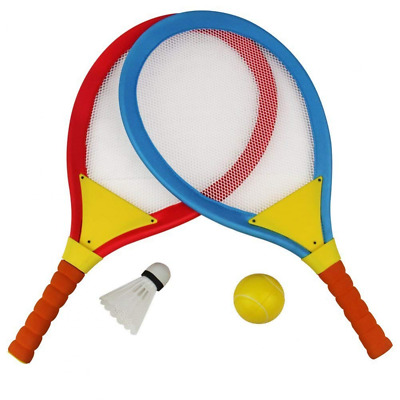 Akokie Badminton Tennis Rackets for Kids 2 In 1 Beach Sport Toy Set with Ball Ch