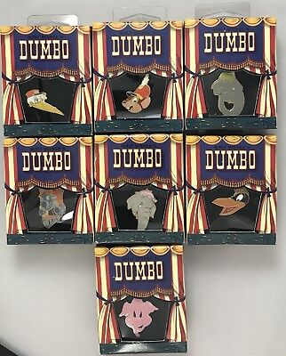 Disney Gallery Store Dumbo Boxed Series Lot of 7 Pins - ALL NEW IN BOX LE 5000