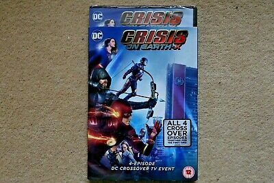 Dc Crisis On Earth 4 Episodes Crossover Tv Event New Sealed Genuine Uk  Dvd
