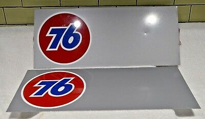 "SALVAGED  Union 76 Sign Gas Station PAINTED METAL Sign 18""X7.75"" (2 AVAIL.)"