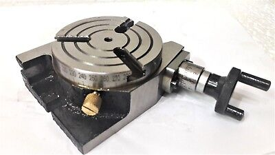 "Rotary Table Horizontal and Vertical 3""/80mm For Milling Machine (3 slots)"