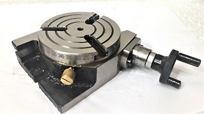 Rotary Table Horizontal and Vertical 3 Inch or 80mm For Milling Machine 3 slots
