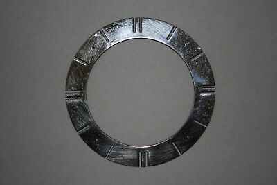 "Vintage Chrome Clock Chapter Ring/Face, 4.5"" (110mm) spares/parts/repairs"