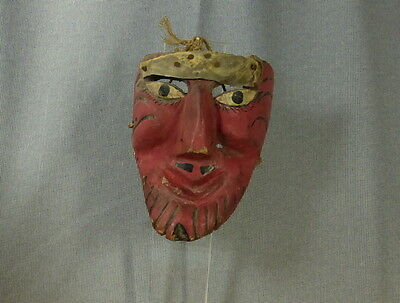 Old traditional Mexico Mask, pinkface, beard