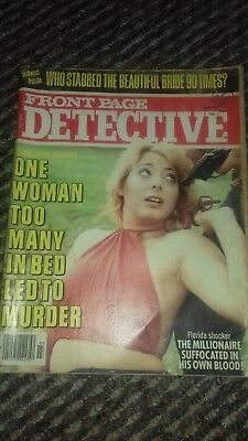 front page detective vol 43 no 3 march 1979 good condition for age