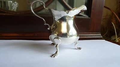 Antique Solid silver creamer halmarked Chester in 1908