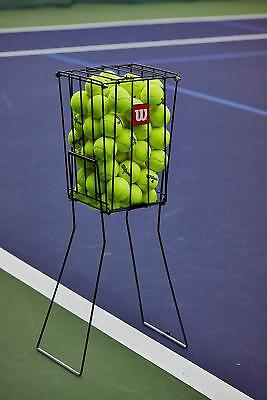 Wilson Branded 75 TENNIS Balls Capacity Court Storage Ball BASKET Hopper Pick Up