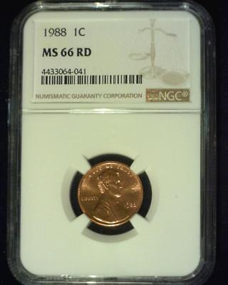 1988 Lincoln Memorial Cent Gem Premier  Brilliant Certified Ngc Ms66 Red ~S375