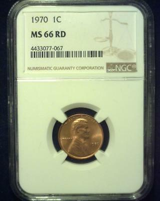 1970 Lincoln Memorial Cent Gem Premier  Brilliant Certified Ngc Ms66 Red~S324