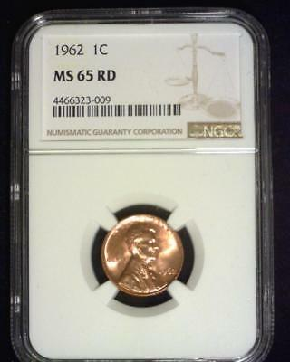 1962 Lincoln Memorial Cent Gem Brilliant Certified Ngc Ms66 Red~S316