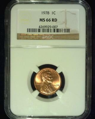1978 Lincoln Memorial Cent Gem Premier  Brilliant Certified Ngc Ms66 Red ~S340