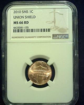 2010 Sms Lincoln Union Shield Cent Gem Brilliant Certified Ngc Ms66 Red ~S420