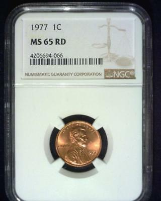 1977 Lincoln Memorial Cent Gem Brilliant Certified Ngc Ms65 Red ~S339