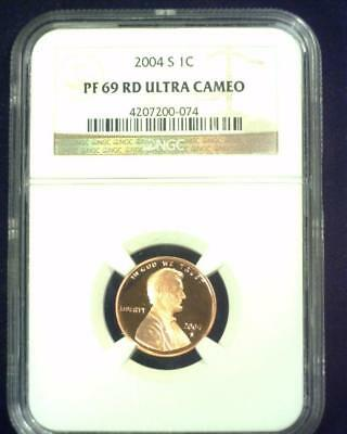 2004-S Lincoln Cent Near Perfect Proof Certified Ngc Pf69 Red Ultra Cameo ~S432