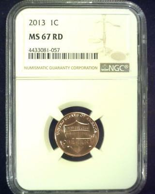 2013 Lincoln Union Shield Cent Superb Gem Certified Ngc Ms67 Red ~S425