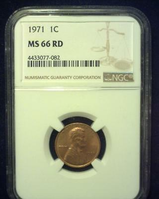 1971 Lincoln Memorial Cent Gem Premier  Brilliant Certified Ngc Ms66 Red~S327