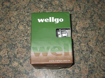 Wellgo Multi-Function Clipless Bike Pedals Shimano SPD Compatible Silver