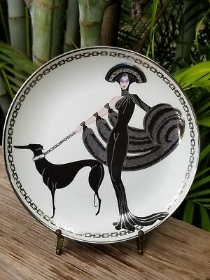 Franklin Mint HOUSE OF ERTE' PLATE Symphony In Black H9452
