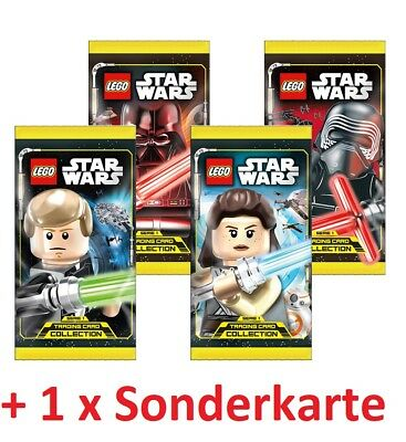 LEGO Star Wars Serie 1 - Trading Cards Karten TC - 4 x Booster + LE 19 20 21 24
