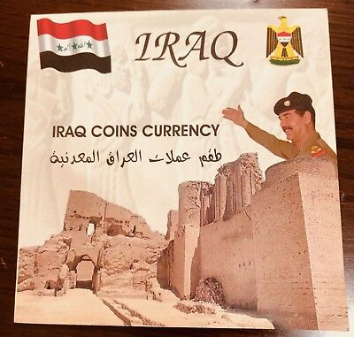 Iraq Set Of Coins In Nice Cover And Coins In Curculated Coins Of Saddam Era