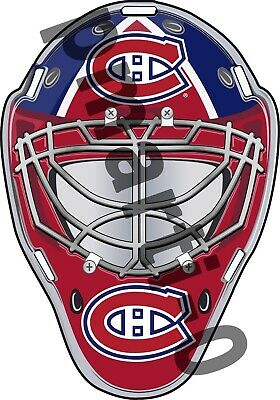 Montreal Canadiens  Front Goalie Mask Vinyl Decal / Sticker 5 Sizes!!!