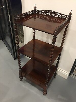 Early Victorian Antique Rosewood Whatnot