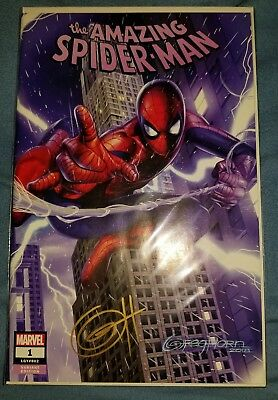 Amazing Spider-Man 1 Greg Horn Trade Variant SIGNED by Greg Horn with CofA NM/M