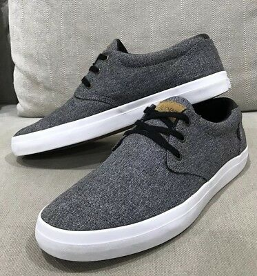 GLOBE Classic Skate Shoe Mens US 9 Sneakers Casual Trainers Grey Canvas