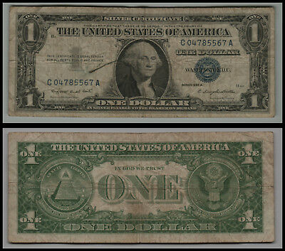 1957A $1 Great Silver Certificate Blue Seal V222