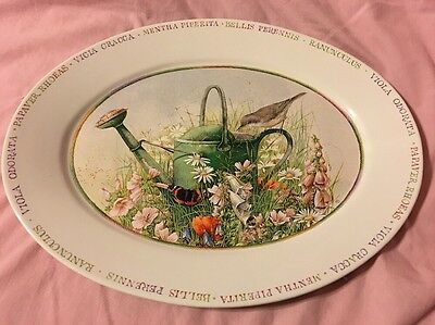 Marjolein Bastin Wildflower Meadow Oval Serving Platter~ 14""