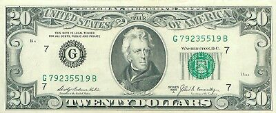 1969 series A G/B (CHICAGO) $20 Dollar Federal Reserve Note Bill US Currency