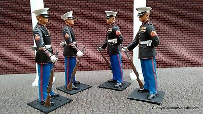 USMC 1/16 scale  United States  MARINE Guard in Dress Blues with M-1 Garand