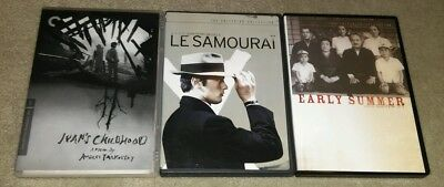Ivan's Childhood, Le Samourai & Early Summer DVD Criterion Collection Lot