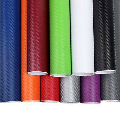 CARBON FIBER Vinyl Vehicle Car Trim Wrap Film Sheet Roll Wide Application #ur