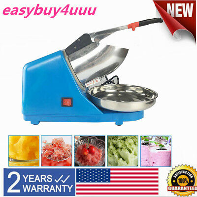110V Commercial Electric Ice Crushing Machine Ice Crusher Shaver Snow Cone Ice