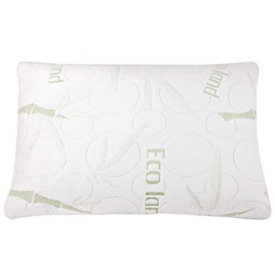2x ECO LAND Luxury Bamboo Pillows Memory Foam Fabric Fibre Cover 70 x 40 cm  #HT