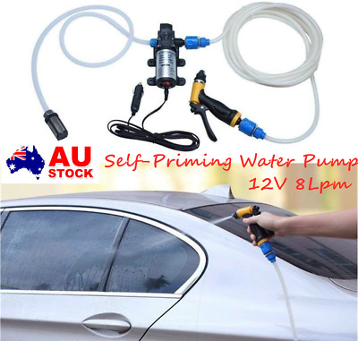 High Pressure Self Priming 12V Portable Car Wash down Pump 100W 160PSI  8L/Min