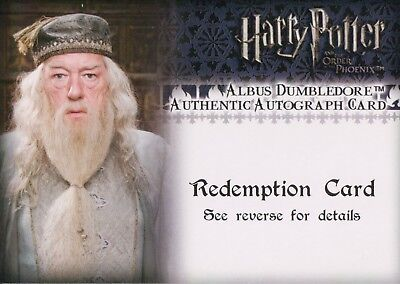 Harry Potter & The Order Of the Phoenix, Albus Dumbledore Auto Redemption Card