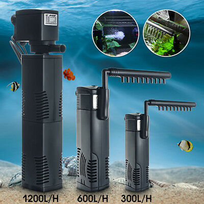 1200L/H Internal Aquarium Filter Submersible Fish Tank Pump Spray Bar LJ